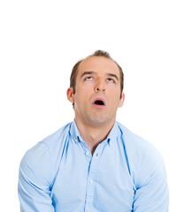 Overwhelmed man