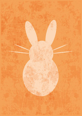 background,easter bunny,grunge,vector,orange