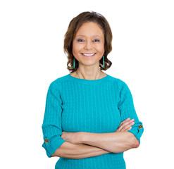 Smiling happy senior business woman