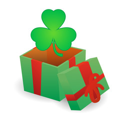 Present  with clover icon