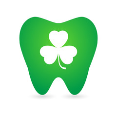Tooth with clover icon
