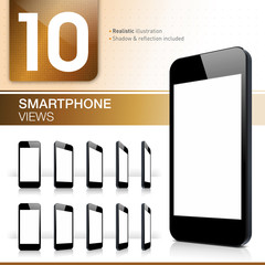 10 Smartphone Views - Realistic