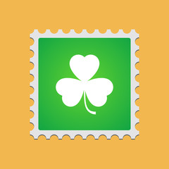 Mail stamp  with clover icon