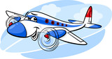 air plane cartoon illustration