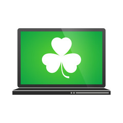 Laptop  with clover icon