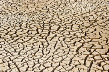 cracked earth / cracked ground / drought / river dried up