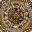 Circle decorative ornamental pattern