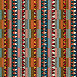 Strip ethnic seamless pattern
