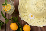 Fresh Squeezed Lemonade and Yellow Sun Hat