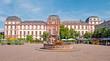 Leinwanddruck Bild - Das barocke  Darmstädter Stadtschloss