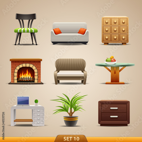 Furniture icons-set 10
