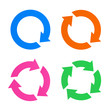 Colorful arrow reload icons