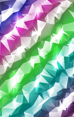 Pastel Stripes Polygonal Abstract