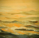 sea waves, painting by oil on canvas,  illustration