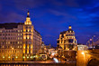 Night view of Baltschug (Balchug) Kempinski hotel in Moscow