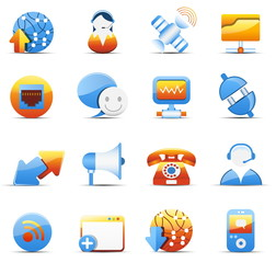 Internet and communicaiton icons