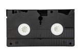 old video cassette isolated white