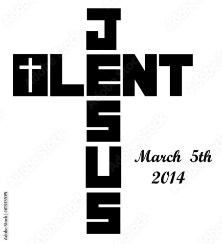 lent cross icon with 2014 ash wednesday date
