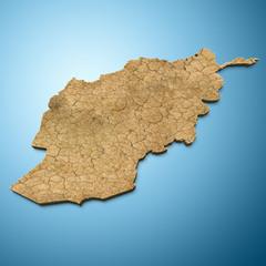 Afghanistan map - Afghan map Dry terrain
