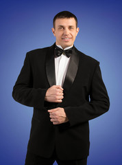 Man in Classic Tuxedo.Fashion