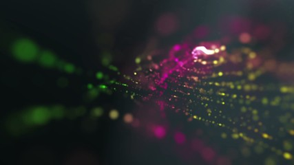 twinkling dust particles colorful abstract dark background