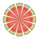 thai watermelon red isolated on white background