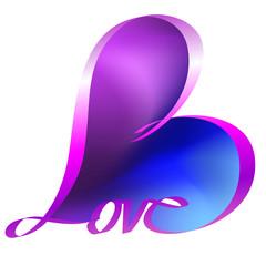 Herz | Schleife | Love lila