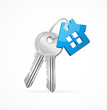 House keys with Blue Key chain - 61337159