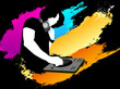 DJ color background