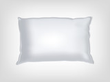 Clean white pillow mockup poster