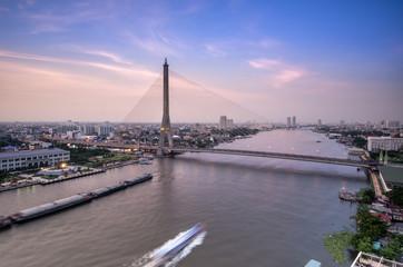 Rama 8 Bridge, Mega bridge in Bangkok Thailand