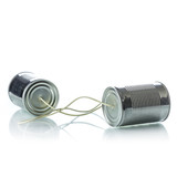 Tin cans telephone