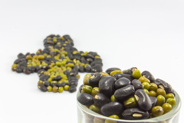 asia beans art Design isolated