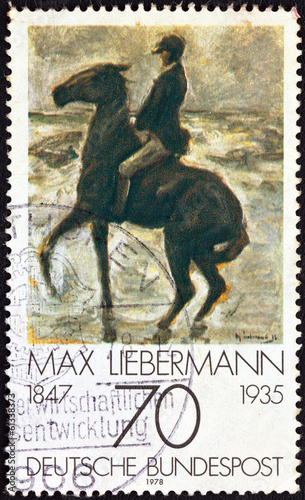 """Horseman on the shore"" by Max Liebermann (Germany 1978)"