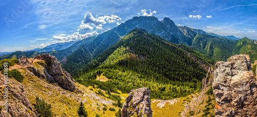 Tatra Mountains with famous Mt Giewont in Poland © Nightman1965