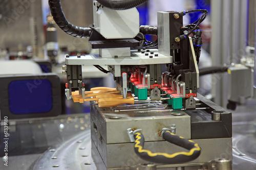 Leinwanddruck Bild Injection moulding machine  of plastic parts