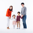Asian happy family