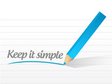 keep it simple message illustration design