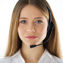 call center woman operator