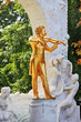 The statue of Johann Strauss with violin