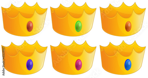 Six golden crowns