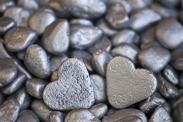 silberne Herzen