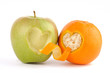 Apple and orange in love