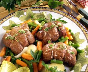 paupiettes de veau aux petits légumes