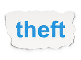 Privacy concept: Theft on Paper background