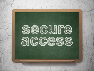 Security concept: Secure Access on chalkboard background