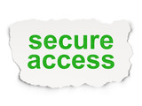 Privacy concept: Secure Access on Paper background