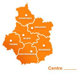 centre région départements et villes
