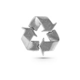 Metallic recycling symbol