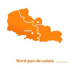 Nord-pas-de-calais région départements et villes
